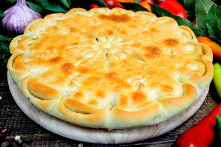 Пирог с картошкой, шампиньонами и сыром