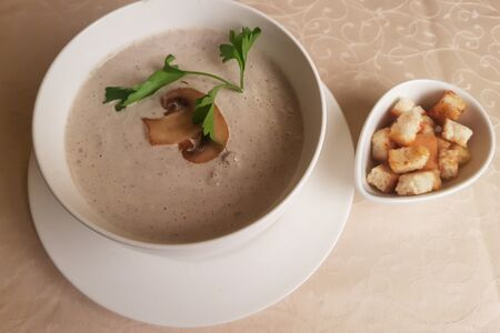 Крем-суп из шампиньонов