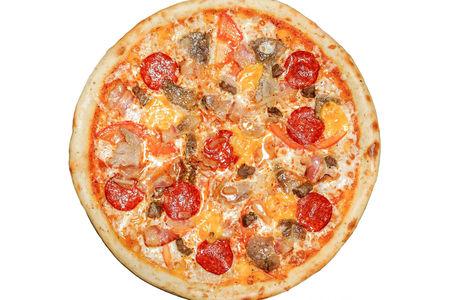 Пицца Мясной хит пышная