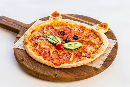 Мини-пицца Котик