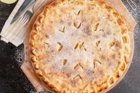 Постный пирог с яблоком