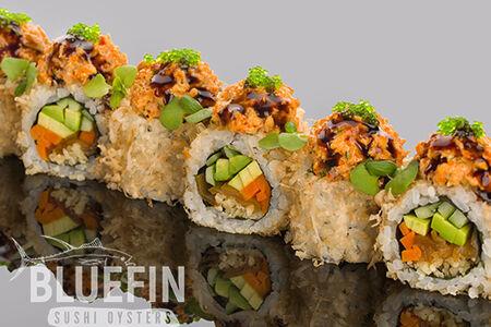 Ролл из тунца с маринованными овощами