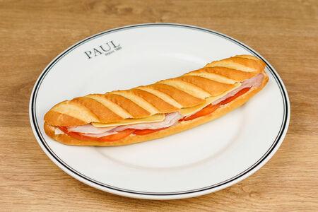Сэндвич Венский с ветчиной, сыром и овощами
