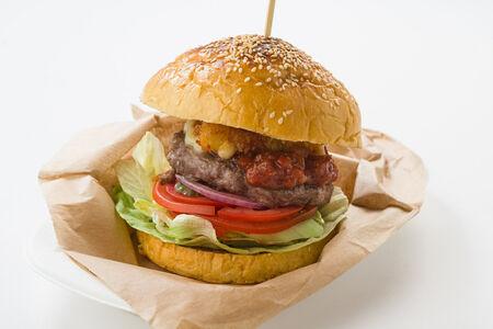 Чизбургер с хрустящим сыром