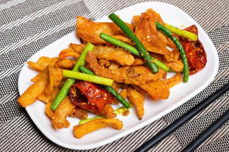 Морепродукты острые с овощами