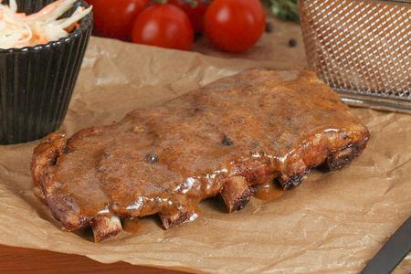 Ребрышки свиные в соусе барбекю