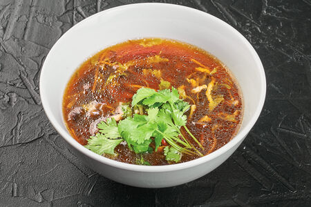 Кисло-острый суп со свининой