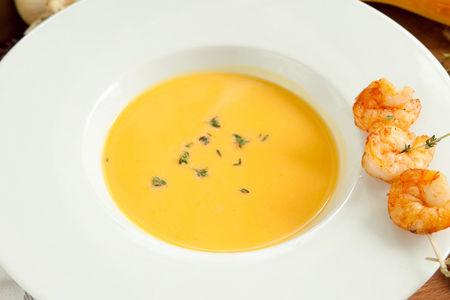 Тыквенный крем суп с креветками