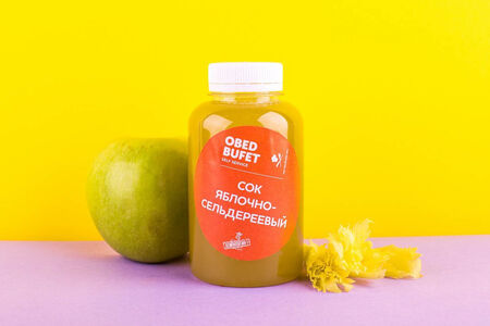 Яблочно-сельдереевый свежевыжатый сок