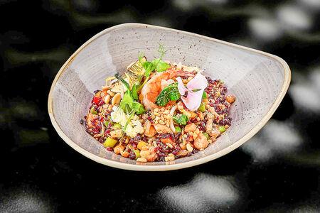 Жареный черный рис по-сингапурски