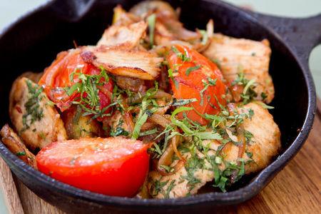 Оджахури - жаркое из индейки с картошкой