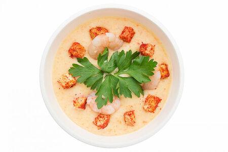 Крем суп с лососем