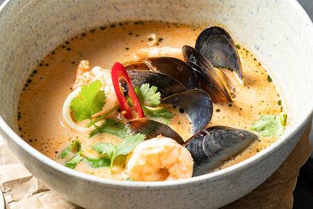 Суп Азиатский с морепродуктами