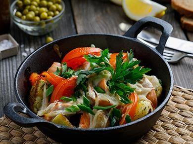 Филе лосося запеченное в сливочном соусе