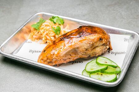 Грудка цыпленка в персиковом барбекю