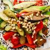 Фото к позиции меню Теплый салат из овощей с кедровыми орешками
