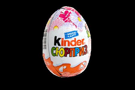 Шоколадное яйцо Киндер Сюрприз для девочек