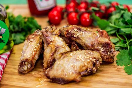 Куриные крылья карри