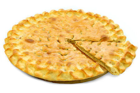 Пирог с говядиной и кинзой