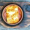 Фото к позиции меню Жареный сулугуни с томатами