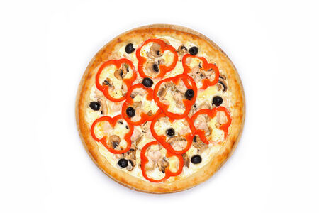 Пицца Палермо на белом соусе