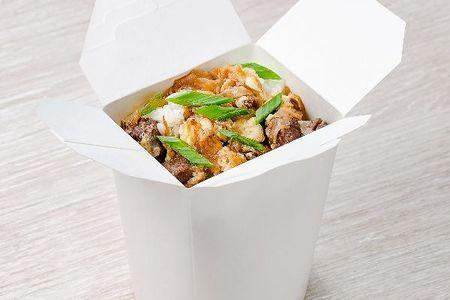 Рис с говядиной под соусом терияки