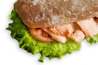Сэндвич с семгой постный на ржано-пшеничном хлебе