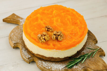 Сырный пирог-чизкейк Тыквенный