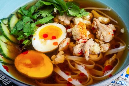 Суп куриный с лапшой и цветной капустой
