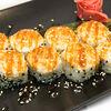 Фото к позиции меню Запеченный ролл с лососем терияки