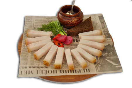 Фирменное соленое сало от Корчмы