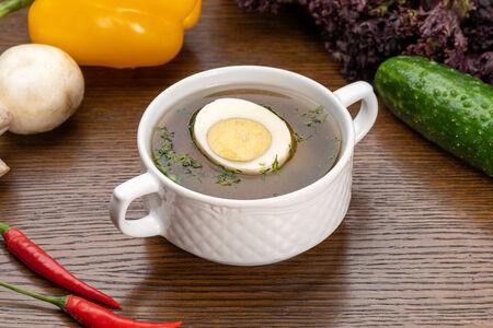 Суп Бульон куриный с яйцом