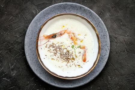 Крем-суп из сельдерея с лангустином