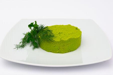 Пюре из зелёного горошка