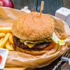 Фото к позиции меню Бургер с говядиной