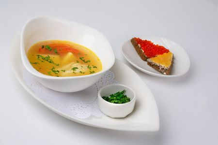 Суп рыбный по-средиземноморски