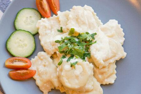Равиоли с картофелем и грибами