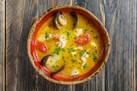 Суп с морепродуктами и донским судаком
