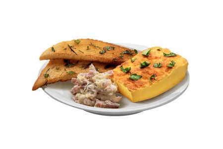 Омлет с сыром и ветчиной