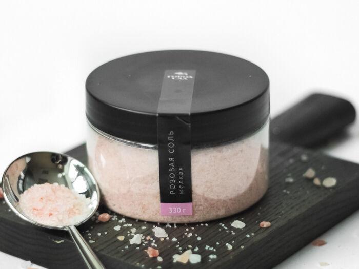 Розовая соль мелкая