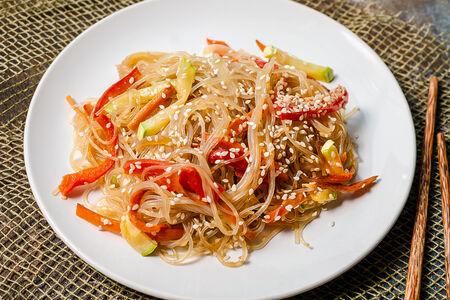Лапша рисовая Фунчоза с овощами
