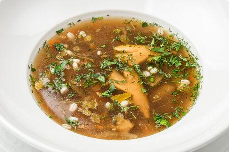 Суп из белых лесных грибов