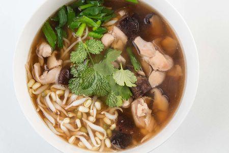 Пряный суп с курицей