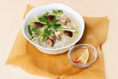 Суп Фо Бо с грибами