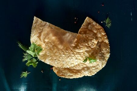 Чебурек с сыром и зеленью