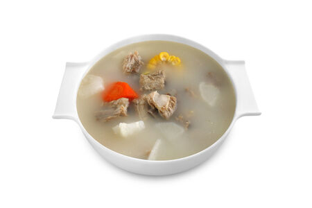 Суп с дайконом и ребрышками