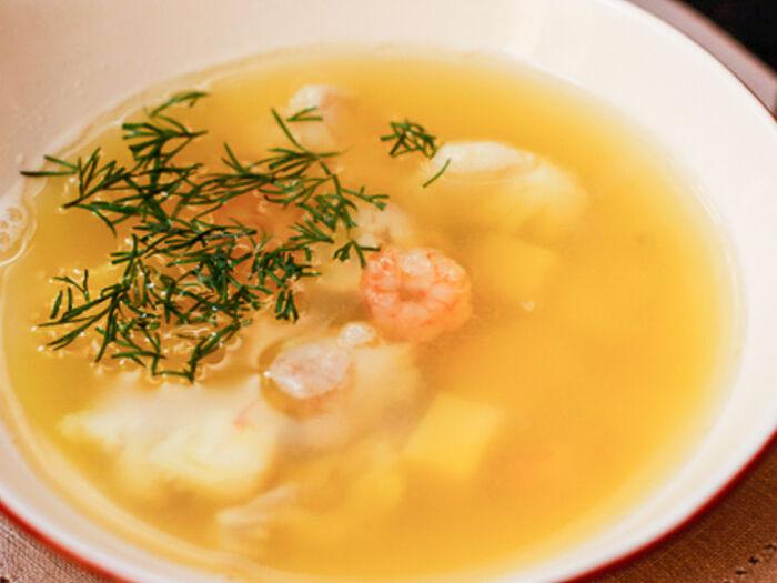 Суп Уха с судаком и лососем