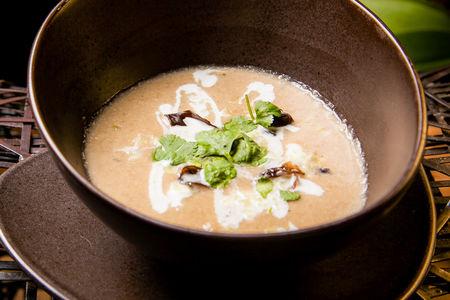 Грибной суп с сельдереем