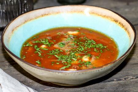 Суп с фасолью и говядиной