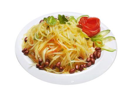 Салат из картофеля с перцем чили